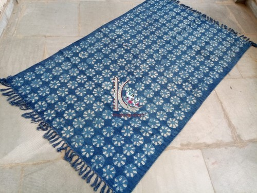 Vegetable Printed Cotton Hand Made Rug