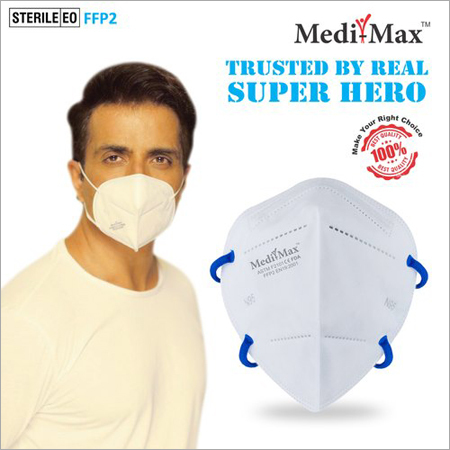 N95 DRDO, BISISI Certified Face Mask Without Valve (With Headloop)