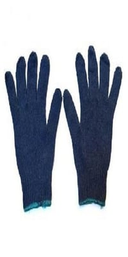 Full Finger Unisex Canvas Khadi Hand Gloves, Length: 12 Inch