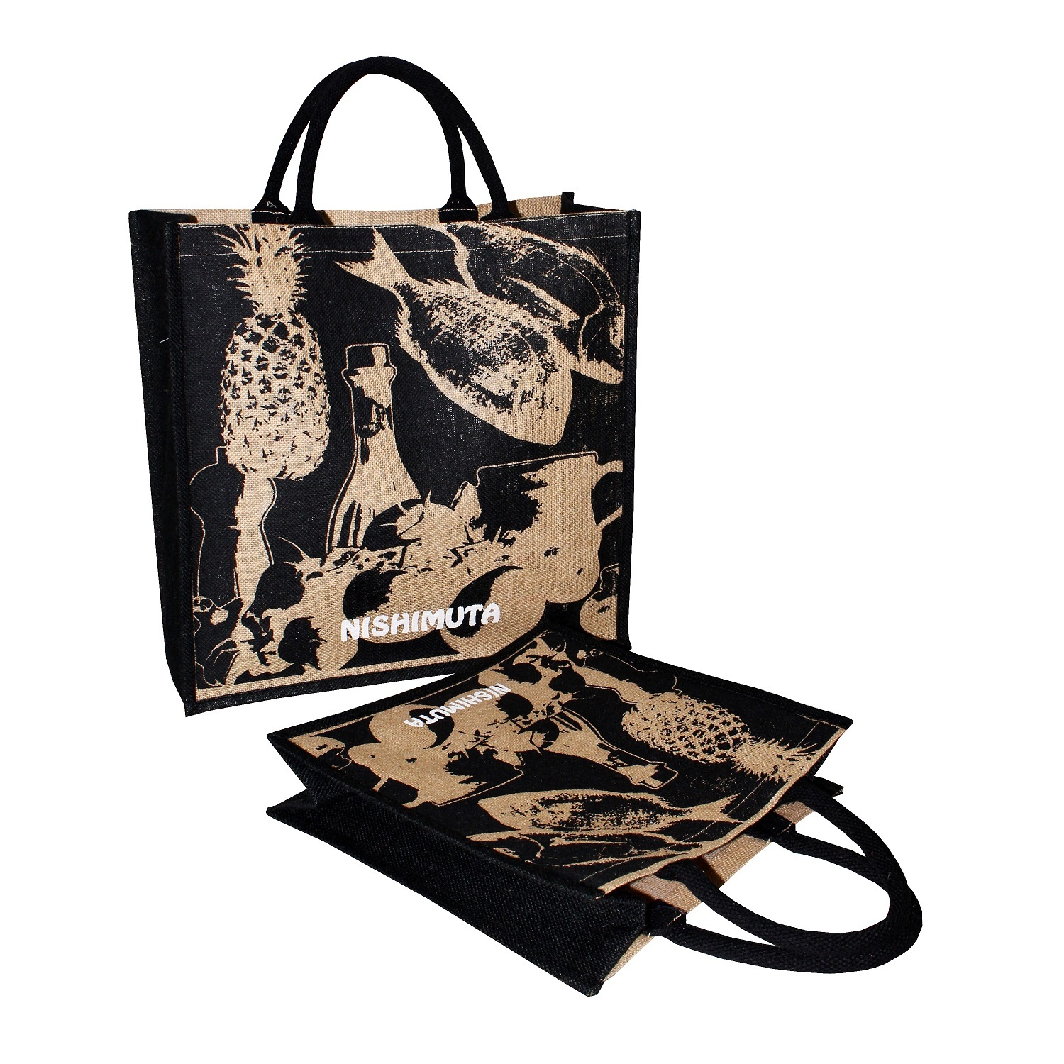Jute Promotional Bags With Padded Rope Handle