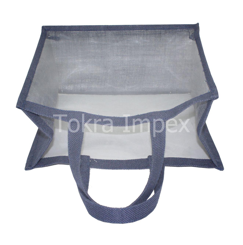 Jute Window Tote Bags