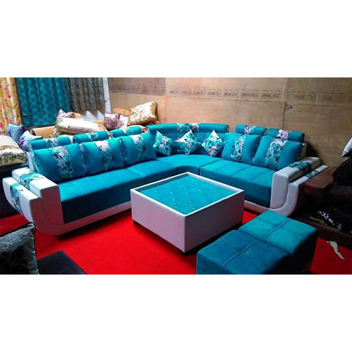 Bihar Timber L Shaped Sofa Set