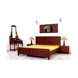 Teak Wood Deewan Bed With Side Table