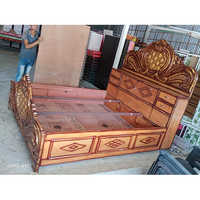 Wooden Deewan Box Bed