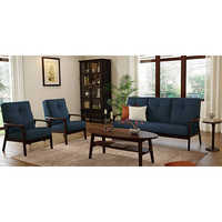 Solid Wood Sofa Set