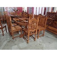 Sagwan Dining Table With 6 Chairs