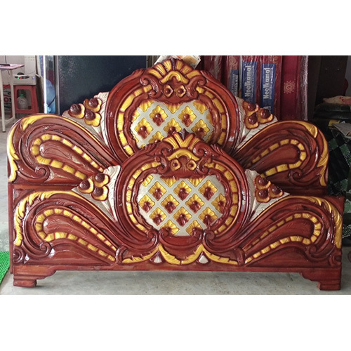 Solid Designer Double Box Bed