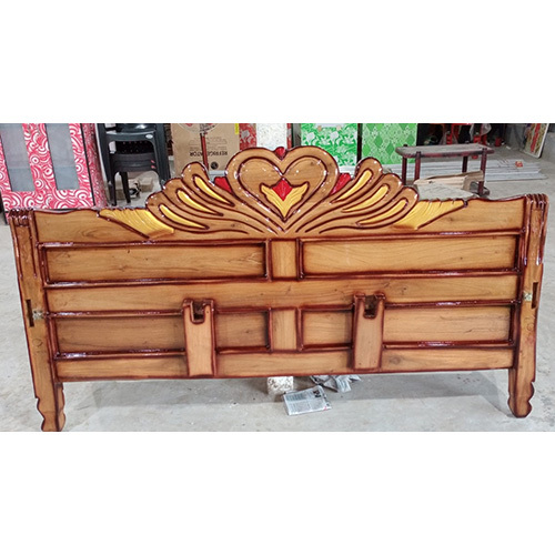 Mini Teak Wood Brown Custom Bed Headboard