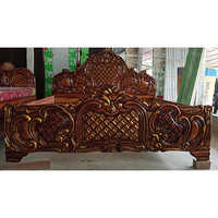 Teak Wood Brown Custom Bed Headboard