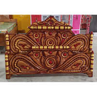 Wood Brown Custom Bed Headboard