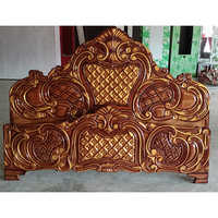 Wooden Double Bed Headboard