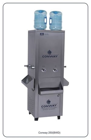 CONWAY BWD 250 STAINLESS STEEL COMMERCIAL BOTTLE WATER DISPENSER - NORMAL & HOT