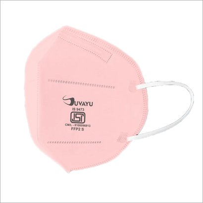 Suvayu Sv9500 Isi Approved (Bis-9473) Filtering Half Face Mask - Pink Certifications: Bis-9473 Ce Fda Who-Gmp Iso-9001-2015 Iso 14001:2015 Iso 45001:2018 Iso 13485:2016