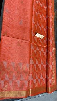 Pure Tussar Silk Geometric Saree