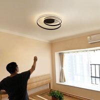 45W Ceiling Chandelier, Remote Control,App Control, Step-Less Dimming,Voice Assist (Google, Alexa)