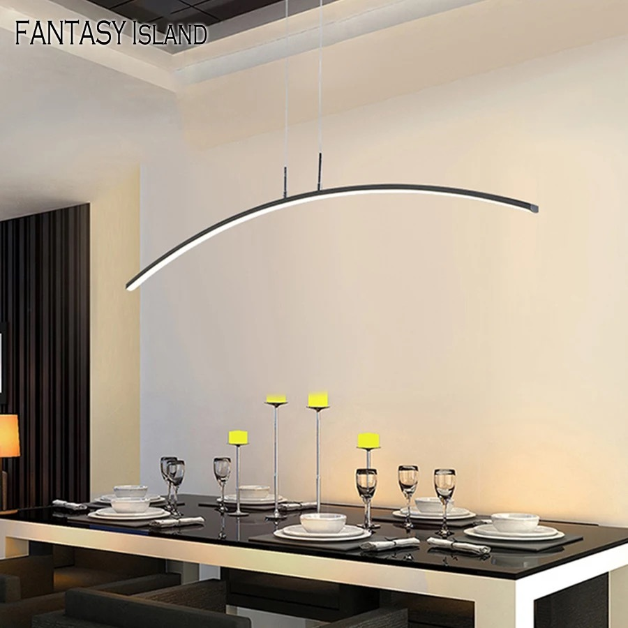 Simple Design Chandelier 120Cm,Remote Control,App Control,Step-Less Dimming, Voice Assist (Google, Alexa),