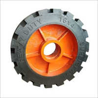 16x4 Heavy Duty Solid Rubber Harrow Wheel