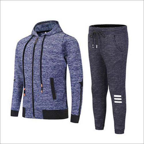 Mens Zipper Cotton Tracksuit