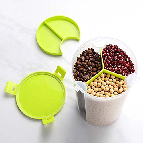3 Section Plastic Container