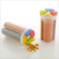 4 Section Plastic Container