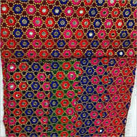 Afghan Mirror Work Embroidery Dresses Material