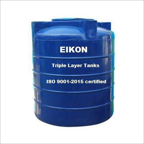 EIKON 1000 Ltr 3 Layer Blue Plastic Tank