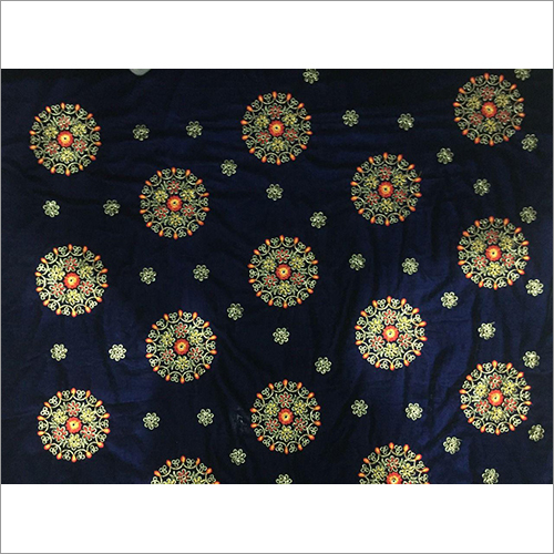 Embroidered Velvet Fabric