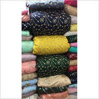 Embroidered Zari Work Fabric