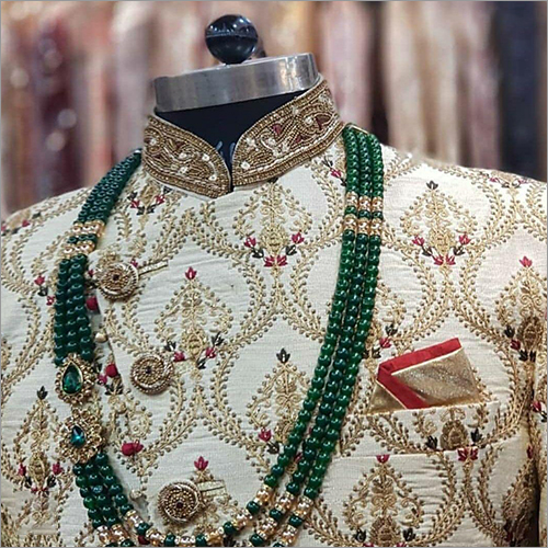 Embroidery Sherwani Fabric