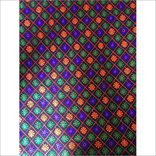 Multicolor Embroidered Fabric