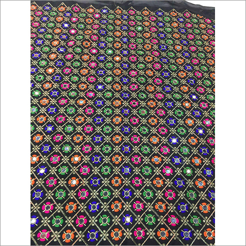 Multicolor Mirror Work Fabric