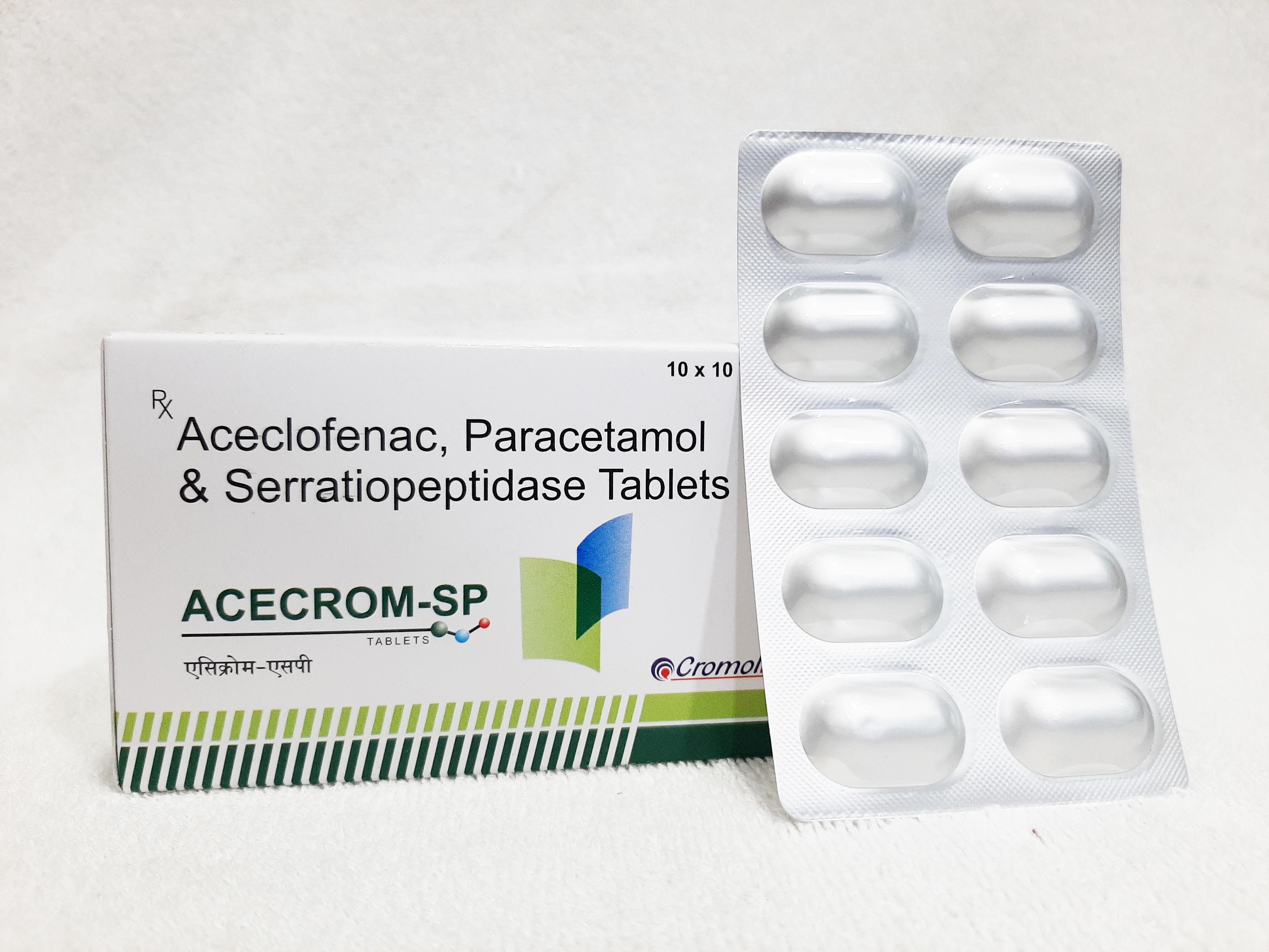 Aceclofenac, Paracetamol & Serratiopeptidase Tablet