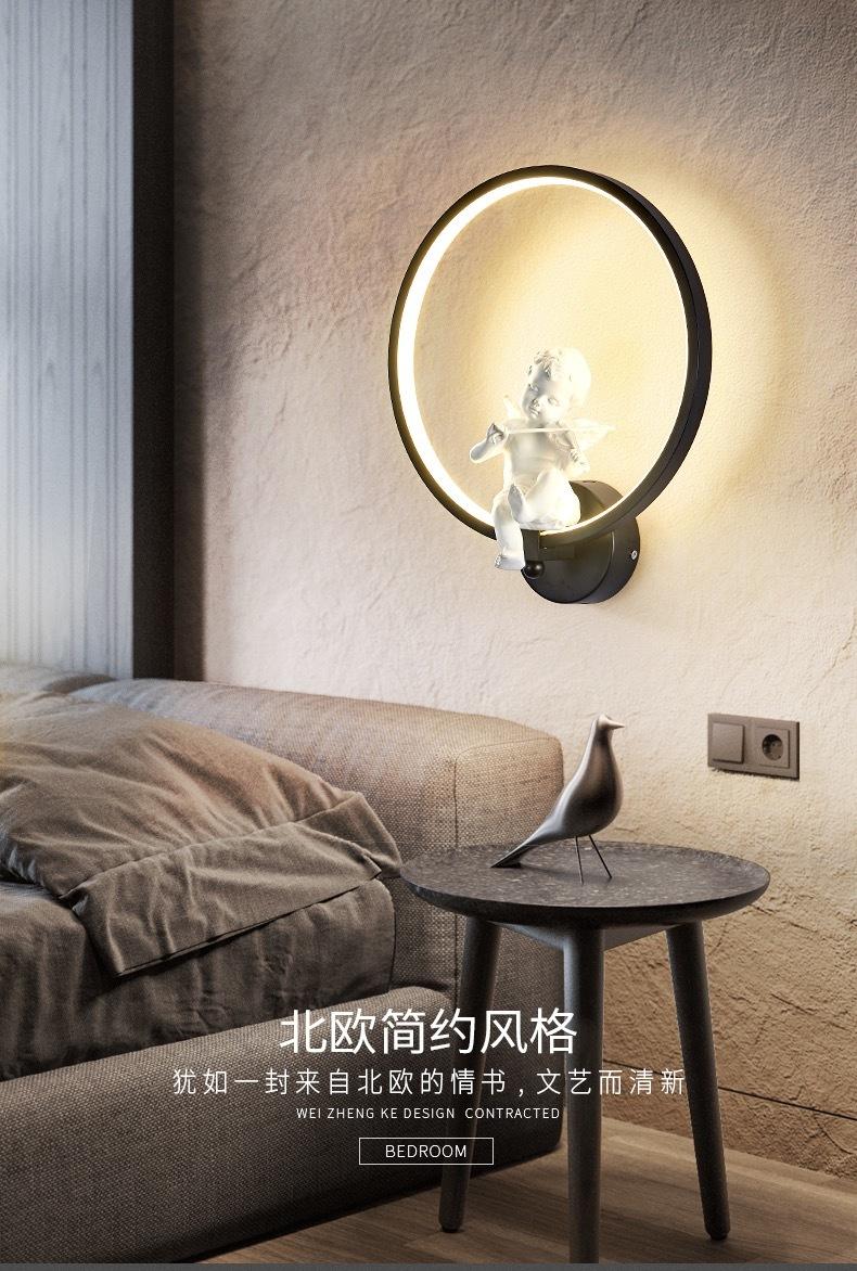 18W Wall led Lamp Angel Violin, (Warm White)