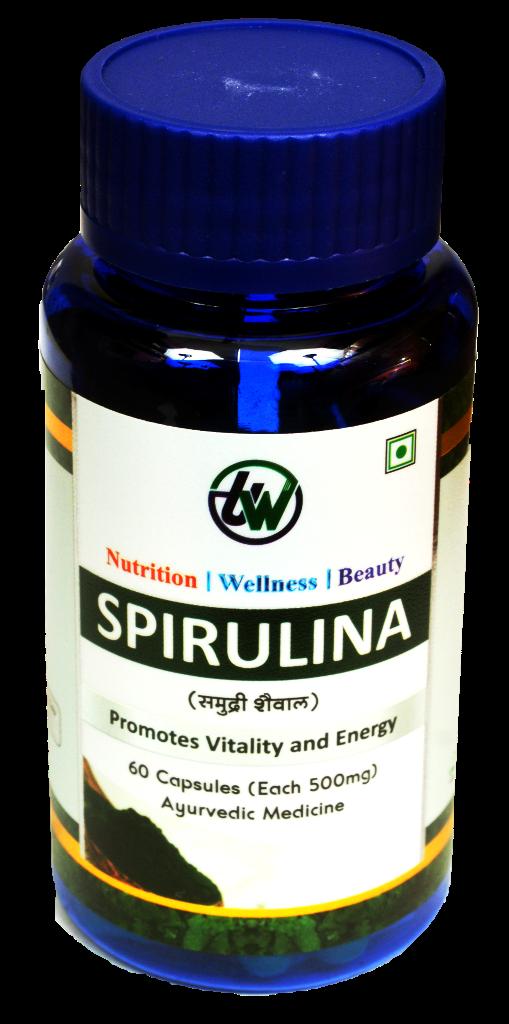 500 mg Spirulina Capsules