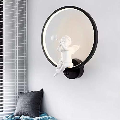 18W Wall led Lamp(Black) Angel Horn, (Warm White)