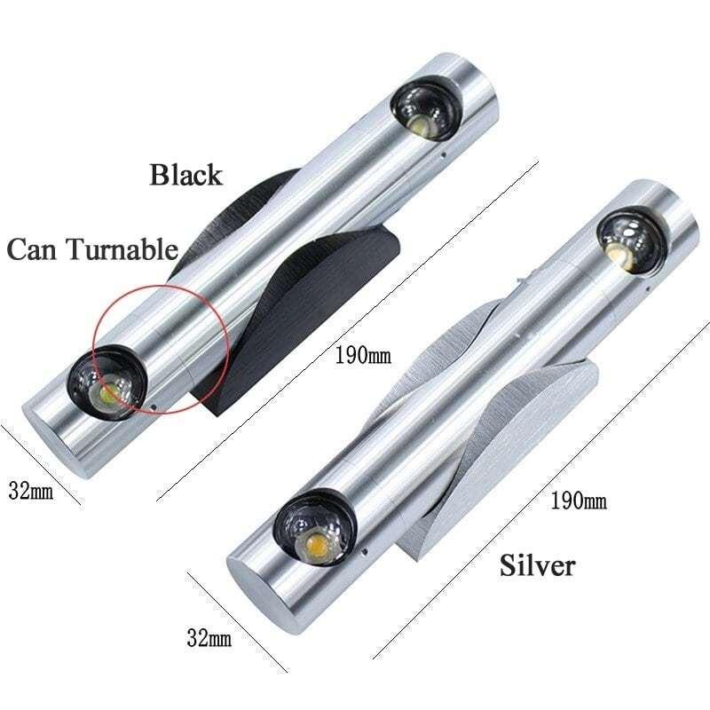 6W Wall Lamp Led,360 Degree Rotatable (Convex Lens) (Warm White)