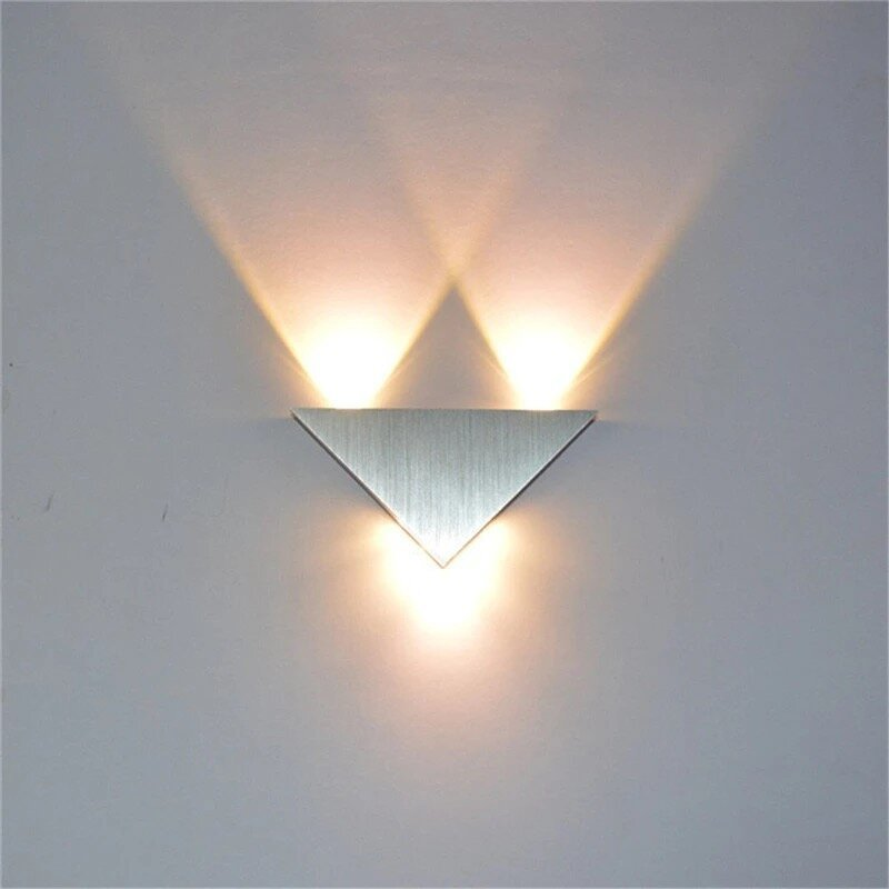 9W Led (Convex Lens) Triangle Wall Lamp (Warm White)