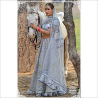 Ladies Wedding Grey Lehenga