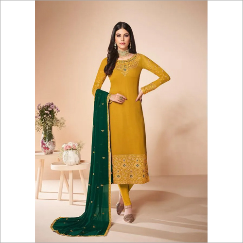 Ladies Mustard Color Suit