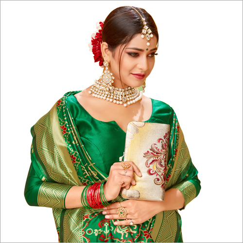 Ladies Silk Green Saree