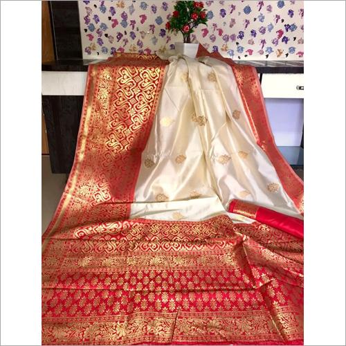 Ladies Red Butta Saree