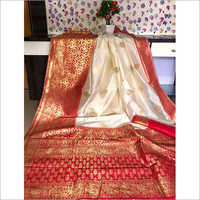 Ladies Red Butta Saree
