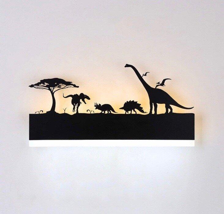 15W Wall Led Lamp Rectangle Dinosaur (Warm White + White)