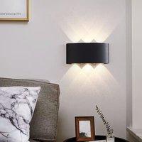 6W Led Wall Lamp Waterproof IP65 Indoor/Outdoor (Warm White)