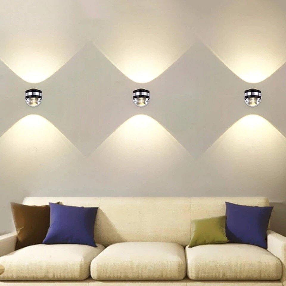 6W Crystal Up & Down Wall Lamp Led (Warm White)