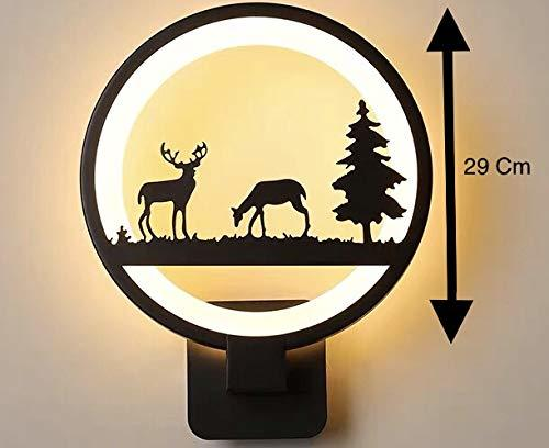 15W Wall Led Lamp Round 2 Deer (Warm White)