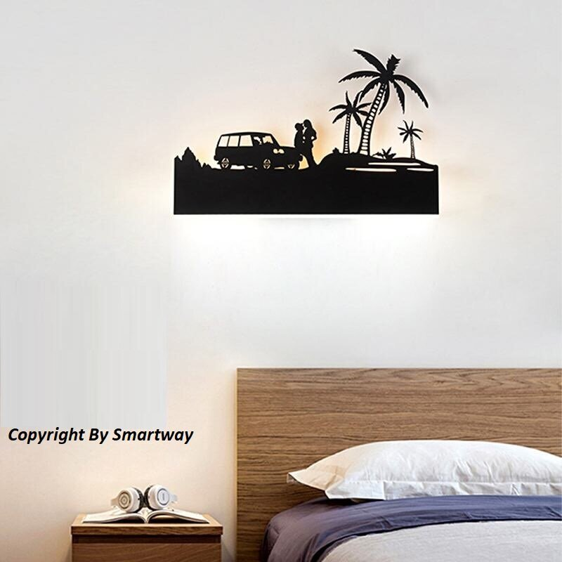15W Wall Led Lamp Rectangle Beach (Warm White + White)