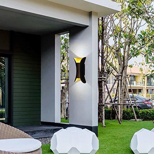 10W Golden Wall Lamp Led, Waterproof IP65 Indoor/Outdoor (Warm White)