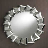 Round Living Room Mirror Glass