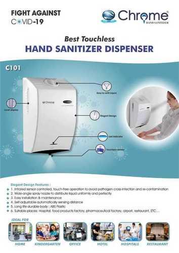 Chrome Hand Sanitizer Dispenser